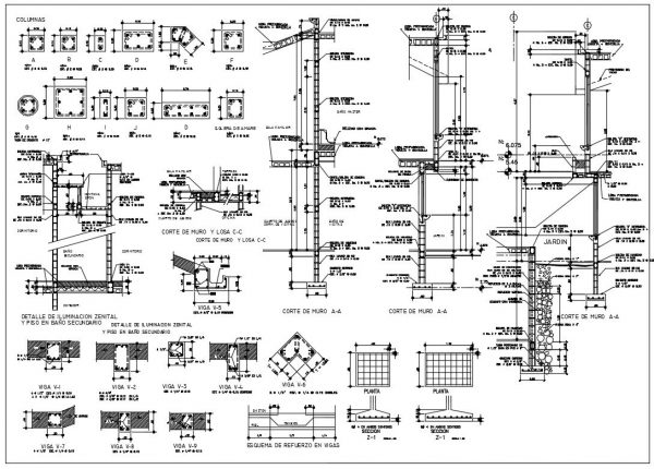 structural details dwg autocad drawing
